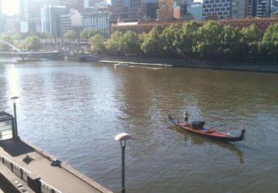 Gondel auf dem Yarra-River
