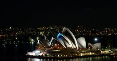 Opernhaus in Sydney bei Nacht
