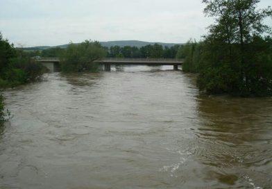 Werra hat Hochwasser